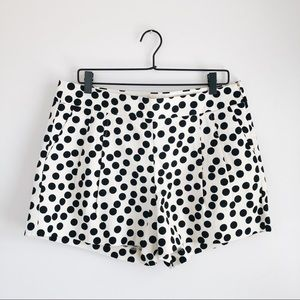 J. Crew Basketweave Shorts I'm Scattered Dot Sz 12
